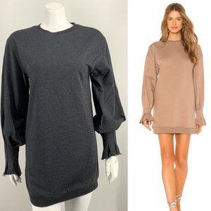 NEW L'Academie The Ashley Dress Gray Small E6